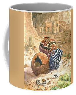 Coffee Mug featuring the painting Old Indian Pottery by Marilyn Smith
