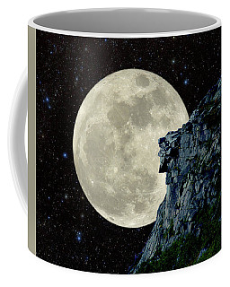 Coffee Mug featuring the photograph Old Man / Man In The Moon by Larry Landolfi