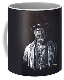 Coffee Mug featuring the painting Old Maori Tane by Richard Le Page