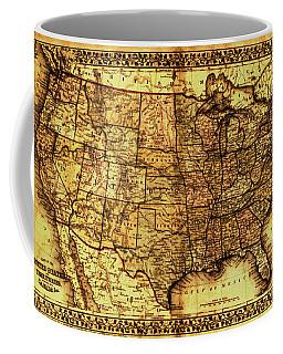 Old Map United States Coffee Mug