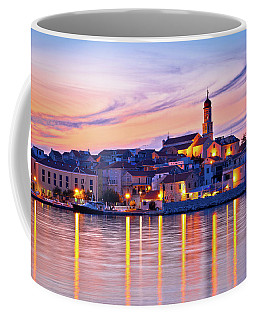 Old Mediterranean Town Of Betina Sunset View Coffee Mug