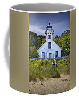 Old Mission Point Lighthouse In Grand Traverse Bay Michigan Number 2 Coffee Mug
