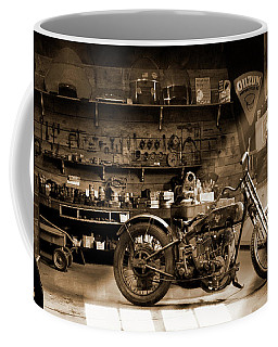 Old Motorcycle Shop Coffee Mug