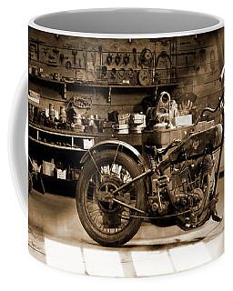 Old Motorcycle Shop Coffee Mug