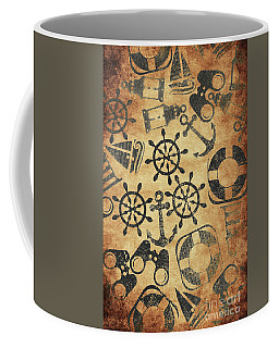 Old Nautical Parchment Coffee Mug