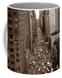 Old New York Photo - 10th Avenue Traffic Coffee Mug