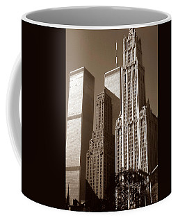Old New York Photo - Woolworth Building And World Trade Center Coffee Mug