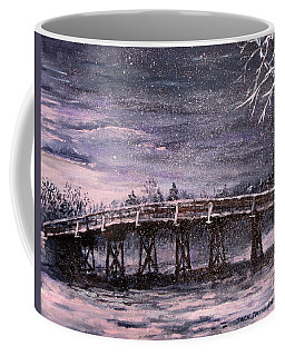 Old North Bridge In Winter Coffee Mug