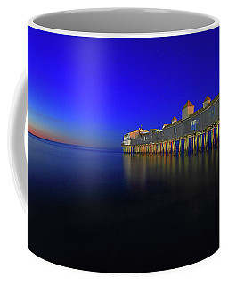 Old Orchard Beach Pier At Sunrise Coffee Mug