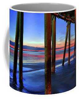 Coffee Mug featuring the photograph Old Orchard Beach Pier -maine Coastal Art by Joann Vitali