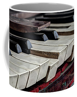 Coffee Mug featuring the photograph Old Organ Keys by Michal Boubin