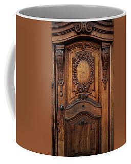 Old Ornamented Wooden Doors Coffee Mug by Jaroslaw Blaminsky