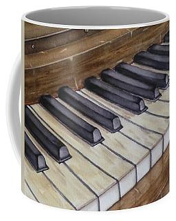 Old Piano Keys Coffee Mug by Kelly Mills