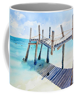 Old Pier On Playa Paraiso Coffee Mug
