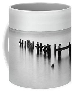 Old Pilings Black And White Coffee Mug