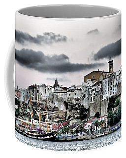 Old Port Mahon And Italian Sail Training Vessel Palinuro Hdr Coffee Mug by Pedro Cardona