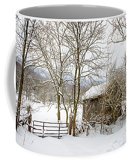 Old Post Office In Snow Coffee Mug