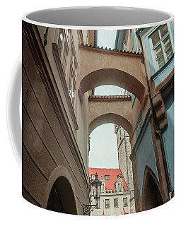 Coffee Mug featuring the photograph Old Prague Architecture 1 by Jenny Rainbow