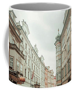Coffee Mug featuring the photograph Old Prague Buildings. Staromestska Square by Jenny Rainbow