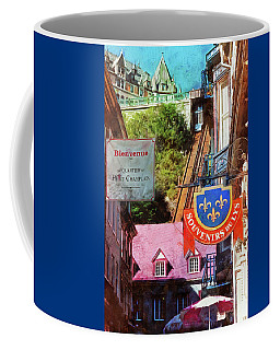 Old Quebec City Funicular Coffee Mug