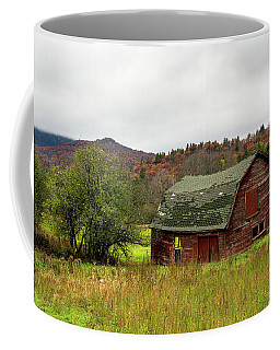 Coffee Mug featuring the photograph Old Red Adirondack Barn by Nancy De Flon