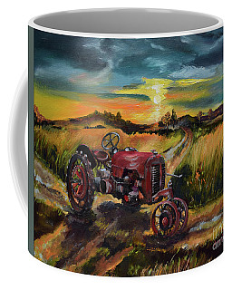Old Red At Sunset - Tractor Coffee Mug