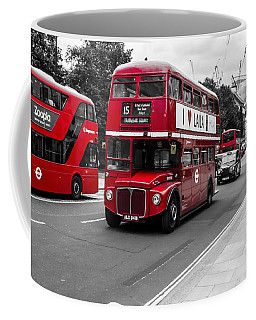 Old Red Bus Bw Coffee Mug