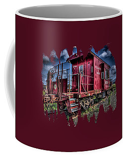 Coffee Mug featuring the photograph Old Red Caboose by Thom Zehrfeld