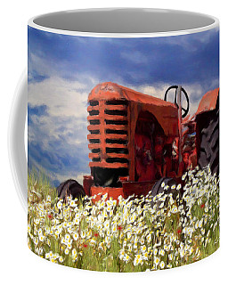 Old Red Tractor Coffee Mug