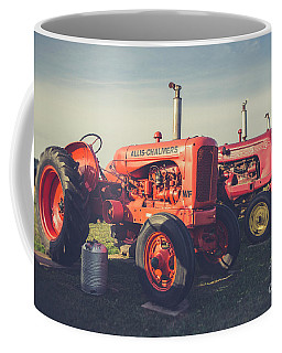 Old Red Vintage Tractors Prince Edward Island  Coffee Mug by Edward Fielding
