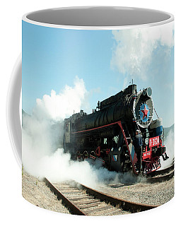 Old Russian Train On Bajkal Coffee Mug