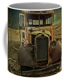 Old Rusted Wrecked Bus  Coffee Mug