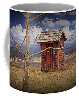 Old Rustic Wooden Outhouse In West Michigan Coffee Mug