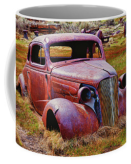 Old Rusty Car Bodie Ghost Town Coffee Mug