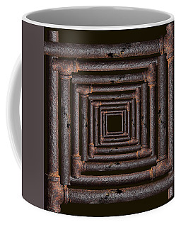Coffee Mug featuring the mixed media Old Rusty Pipes by Viktor Savchenko