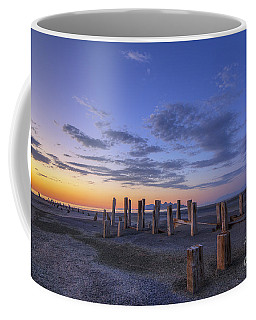 Old Saltair Posts At Sunset Coffee Mug