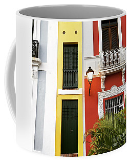 Coffee Mug featuring the photograph Old San Juan Homes by The Art of Alice Terrill