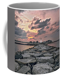 Old Scituate Light At The End Of The Jetty Coffee Mug