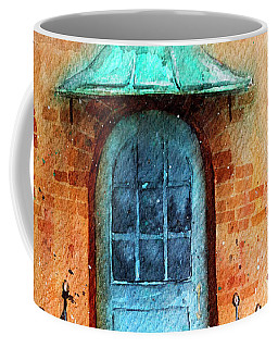 Old Service Station With Blue Door Coffee Mug