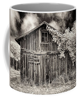Coffee Mug featuring the photograph Old Shed In Sepia by Greg Nyquist