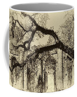 Old Sheldon Church Ruins Bw Coffee Mug