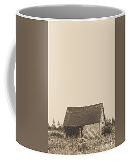 Old Shingled Farm Shack Coffee Mug by Edward Fielding