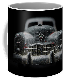 Old Silver Cadillac Toy Car With Specks Of Red Paint Coffee Mug
