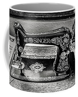 Coffee Mug featuring the photograph Old Singer Sewing Machine by Marilyn Hunt