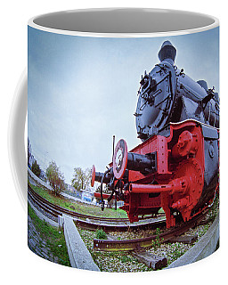 Old Steam Locomotive Close Up Coffee Mug