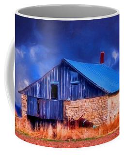Old Stone Barn Blue Coffee Mug