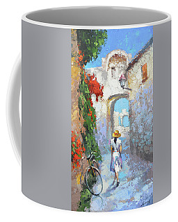 Coffee Mug featuring the painting Old Street  by Dmitry Spiros