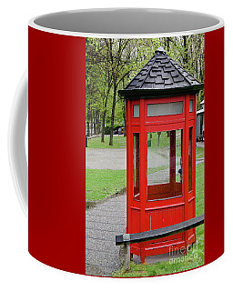 Old Telephone Booth  Coffee Mug by Yurix Sardinelly