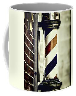 Old Time Barber Pole Coffee Mug