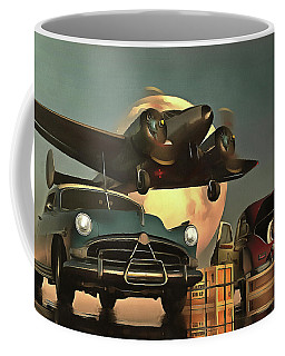 Old-timers With Airplane Coffee Mug